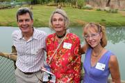 (From left) Chris Farrell, Cathryn Hilker and LeAnn Coberly at the new exhibit.