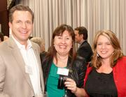 Chris Jones, Nina Creech and Stacy O'Leary at the Green Business awards.