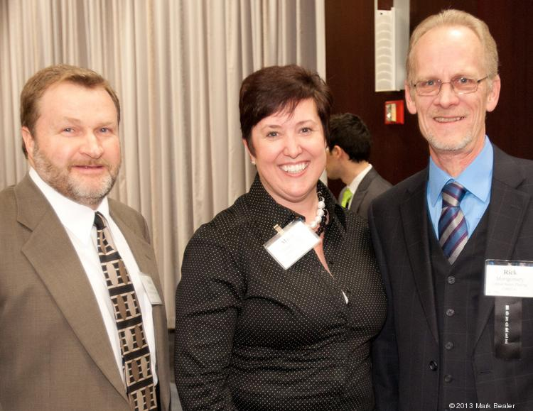 Rick Spurlock, Mary Frommling and Rick Montgomery at the Green Business awards.