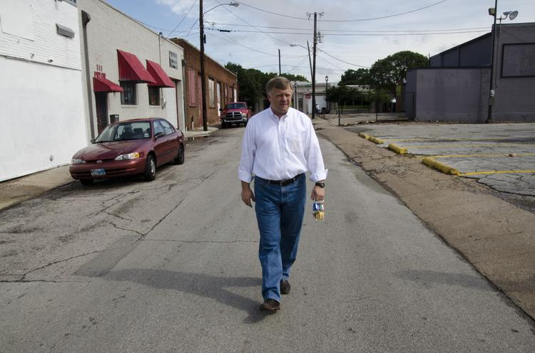 Scott Rohrman gave the DBJ a tour of some of the 32 properties in Deep Ellum.