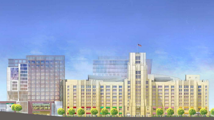 The Boston Redevelopment Authority in 2013 approved a more than $500 million expansion and renovation of the historic Landmark Center in the Fenway. Developer Samuels & Associates is planning 550 apartments; 110,000 square feet of new retail; 15,000 square feet of new offices; 1,500 parking spaces in a below-ground garage and demolition of the existing freestanding garage, as well as an around 75,000-square-foot Wegmans supermarket.