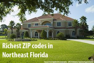 Click through the slideshow to see the richest ZIP codes in Northeast Florida.