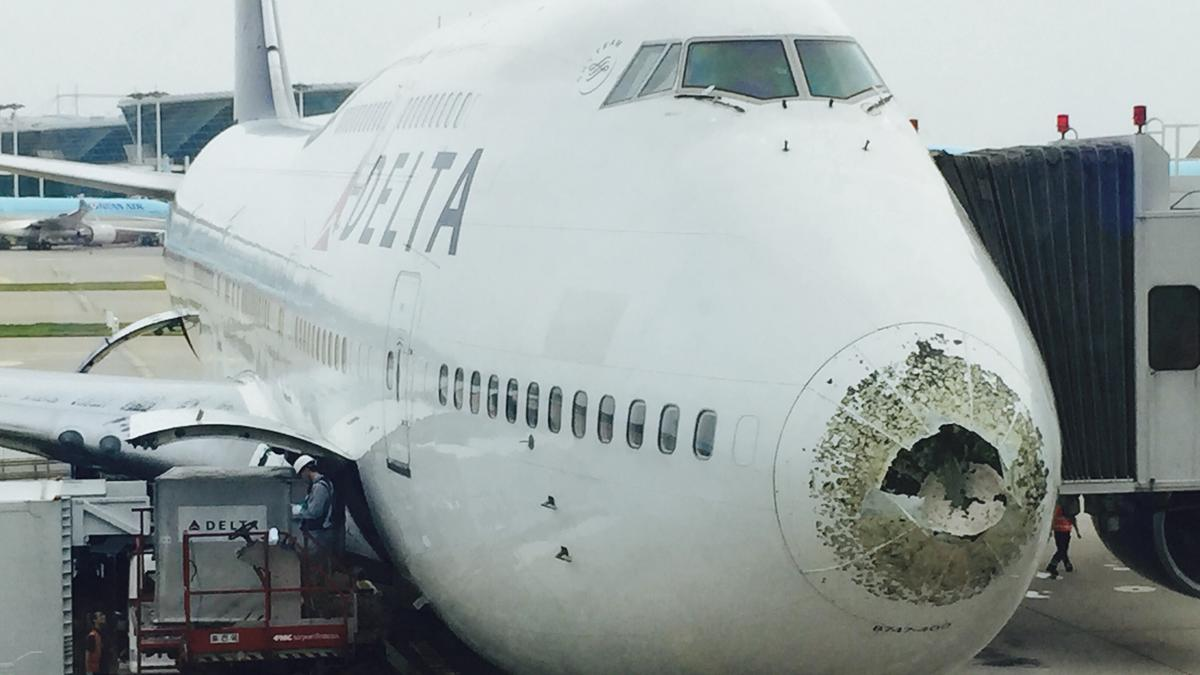 Will Delta repair its hail-battered Boeing 747? - Minneapolis / St. Paul Business Journal
