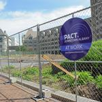 A new $1 million entrance to SUNY headquarters in downtown Albany