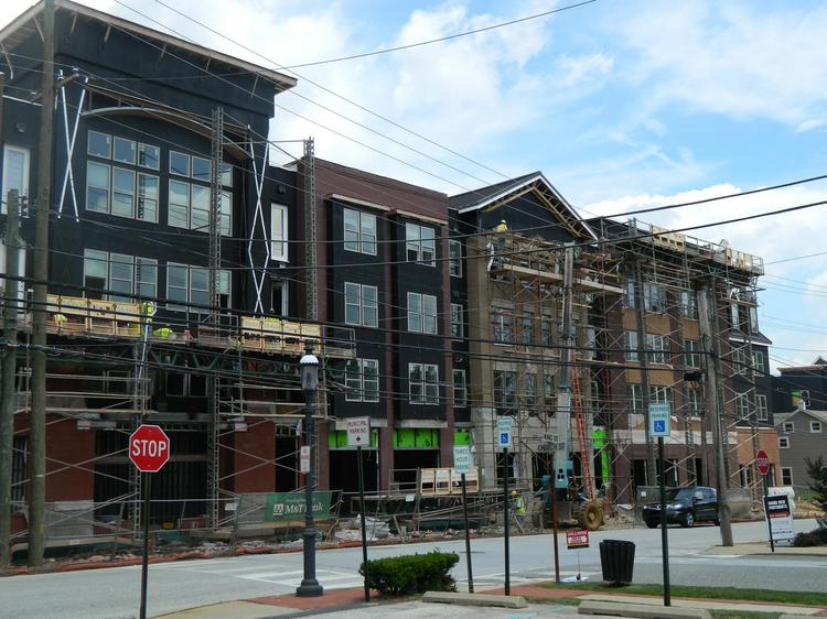 Seven years in the making, the $45 million Eastside Flats mixed-use development in Malvern, Pa., is closing in on completion.