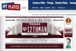 Texas A&M, MyPlates.com holding auction for 12THMAN license plate