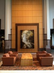 "John Folsom of Atlanta is exhibiting his work ""Olana II"" at Cousins' Promenade tower in Midtown. Folsom's work deals with the way in which images and landscape are used to present a personal sense of place."