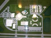 A diorama of Florida Christian College's planned expansions