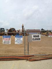 Site at the Valley Forge Shopping Center that will house a 165,000 sq. ft. Target store.