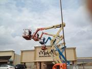 Cranes working on the soon-to-be Target site at the Valley Forge Shopping Center.