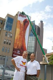 Andy Schmidt, left, and Geoff Schmidt are proud of the family-owned business' new presence in Columbus for the summer.