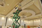The 5,000-square-foot grand ballroom can hold 350 people.