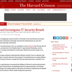Harvard investigates security breach that may have compromised emails