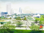 Lakefront Gateway proposals envision cafes, fountains, weather beacons