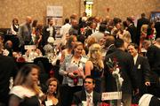 Attendees network and catch up before the evening's awards presentation