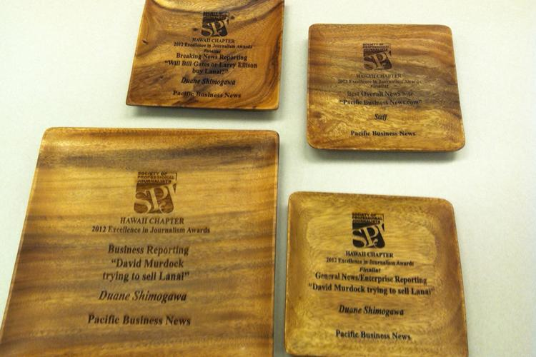 "Pacific Business News reporter Duane Shimogawa won one award from SPJ's Hawaii chapter and was a finalist in two other categories, while the PBN website was a finalist for ""Best Overall News Site."""
