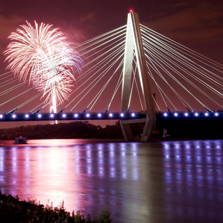 KANSAS CITY RIVERFESTWhere: Berkley Riverfront Park, Kansas CityEntry fee: Free until 5 p.m., $5 afterwardWhen: July 4, 4-11 p.m.Fireworks display: 10 p.m.Expected attendance: 20,000Details: Kansas City Riverfest is kicking off its decade-old event at 4 p.m. Thursday. Although it's usually a multiday celebration, the event has been restructured this year to take place on one day. Ten bands on two stages will play, and a number of food vendors will also be on-site, including the Taco Republic food truck, Jerusalem Cafe and the Chiefs Food Truck, among others. Free shuttles from the City Market to Berkley Riverfront Park will be available.Sponsors: Port Authority of Kansas City, Burns & McDonnell, Shook Hardy & Bacon LLP, Boulevard Brewing Co., Blue Cross and Blue Shield of Kansas City and Missouri Gas Energy, among others.More information: http://www.kcriverfest.com/