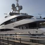 168-foot mega-yacht 'MySky' slips through Ballard Locks on its way to Lake Union (slideshow)