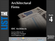 4: IDC Architects  The full list of top architectural firms - including contact information - is available to PBJ subscribers.  Not a subscriber? Sign up for a free 4-week trial subscription to view this list and more today