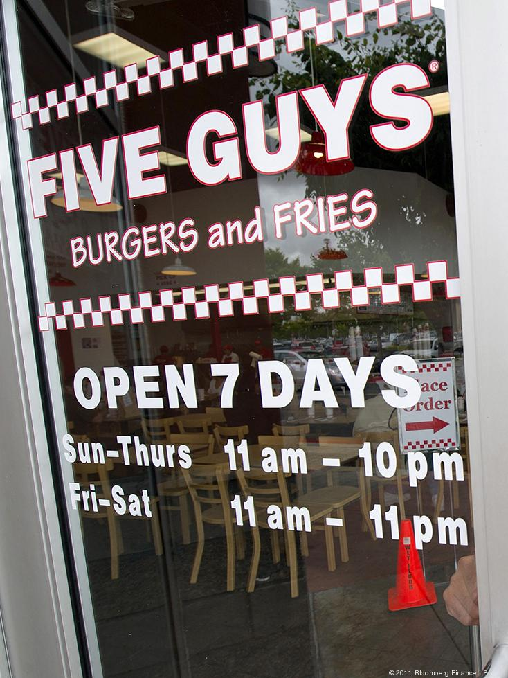 Encore Restaurants bought eight Five Guys Burgers and Fries restaurants in Northern California, and has plans to develop 45 more restaurants in the region in the next four years.