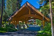 The front gate at Sierra Star estate. Listed for $43 million, the property includes four homes on acreage fronting Lake Tahoe.