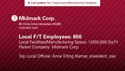 Midmark Corp. is the No. 7 manufacturing company.