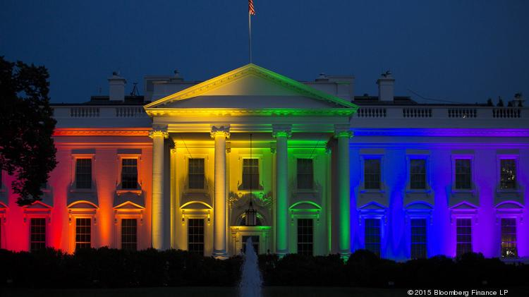 The White House was illuminated in rainbow-colored light on June 26 after the Supreme Court legalized gay marriage nationwide.