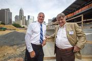 Charlotte Knights Chief Operating Officer Dan Rajkowski (left) with the team's majority owner, Don Beaver.