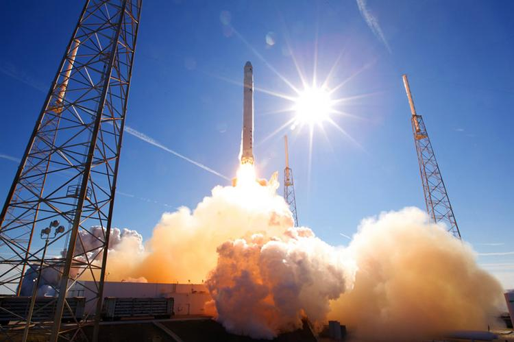 Space Exploration Technologies Corp.'s (SpaceX) Falcon 9 rocket takes off in Cape Canaveral in Florida. If Elon Musk has his way, his rockets will take off in Texas.