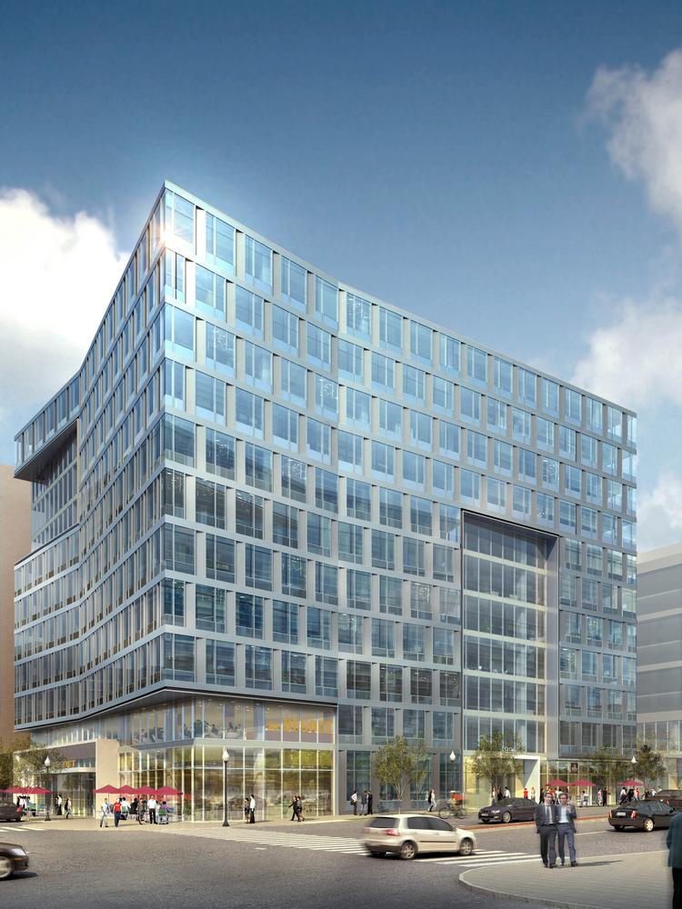 A Rendering Of 99 M St Se An 11 Story Building In The