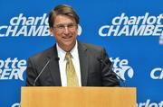 N.C. Gov. Pat McCrory speaks at the Charlotte Chamber at a welcome announcement for MetLife.