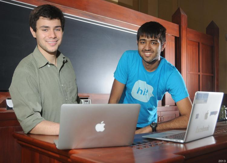 Alex Rattray (left) Pulak  Mittal, Penn Students who created Emerald Paperless Exam software.