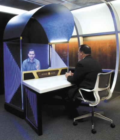 High Tech: MidUSA Credit Union says its the first credit union in the country to install life-size 3D holograms.