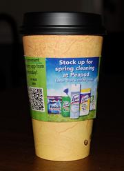 Peapod also will spread the word in Chicago about its mobile app via 15,000 coffee cup sleeves.