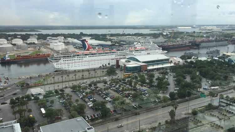Port Tampa Bay will unveil its plans for its real estate holdings in the Channel district, including this cruise terminal, on Thursday.