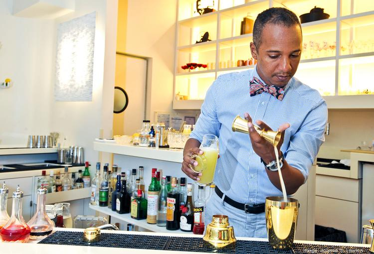 Juan Coronado creates customized cocktails for each of ThinkFoodGroup's three Jaleos.