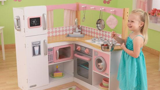 A Toy Kitchen Made By KidKraft.