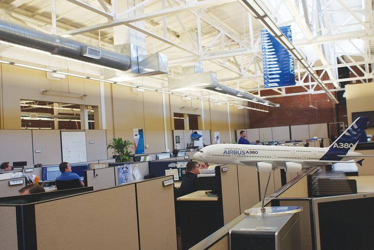 The offices of Airbus Americas Engineering in Wichita are a prime example of how engineering work has come to increasingly help define Wichita's role in the aerospace industry. The office has grown from 24 to 400 workers in just over 10 years, and now has work on all Airbus commercial products.