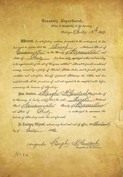 The bank's original charter from 1863.