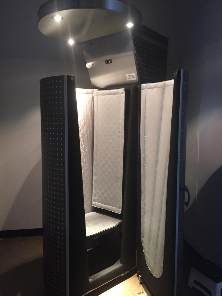 Cryotherapy chambers, like the one pictured, are believed to help patients recover from muscle fatigue, inflammation and other maladies.