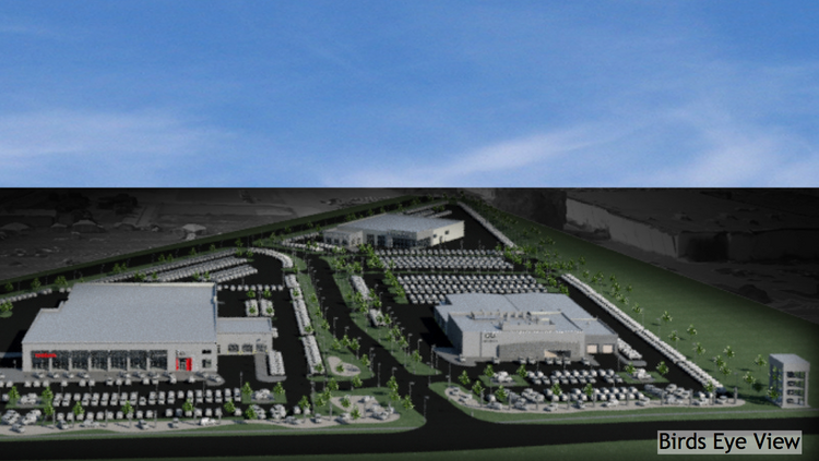 A Preliminary Rendering Of The New Dealerships That Asbury Automotive Will  Build At Integral Groupu0027s New