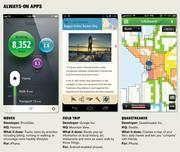 A look at the new wave of smartphone apps that use location-based data.
