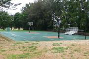 The new basketball court in Lanai City.