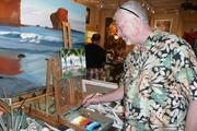 Artist Mike Carroll of the Mike Carroll Gallery.