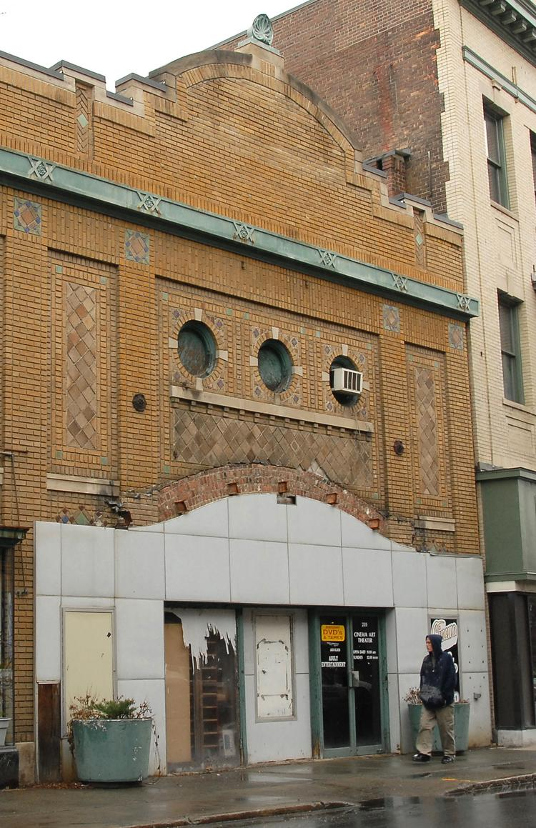 Cinema Art Theater at 289 River Street in Troy, NY. Owners have had talks with potential operators but not deal has been made.