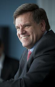 Rocky Wirtz, chairman of the Chicago Blackhawks and president of Wirtz Corp., brought the Stanley Cup to Minnesota Monday.
