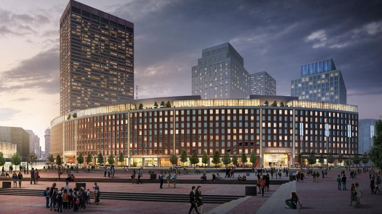 Shorenstein Properties has planned an up to $25 million renovation of Center Plaza, a 720,000-square-foot mixed-use complex spanning three buildings across from City Hall in downtown Boston. The renovation plans were designed by CBT Architects.