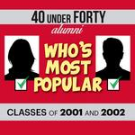 Voting for most popular 40 Under 40 alum for 2001, 2002 starts today