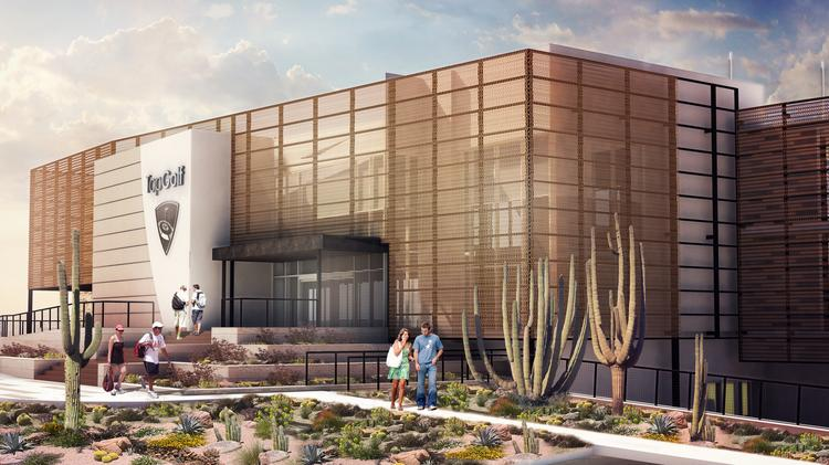 A rendering of the TopGolf facility soon to be build in the Salt River Pima-Maricopa Indian Community near Scottsdale.