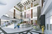 A rendering of the dramatic lobby in the Soo Line Building City Apartments.